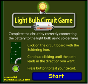 light bulb circuit Game